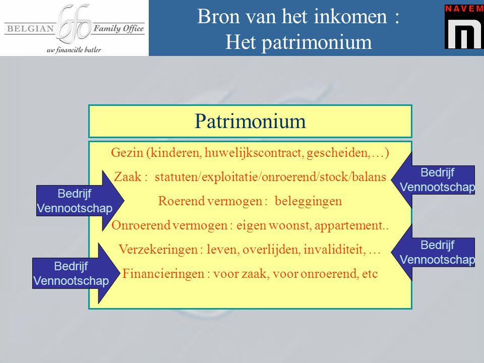 Bron van het inkomen : Het patrimonium