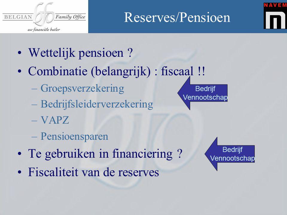 Reserves/Pensioen Wettelijk pensioen