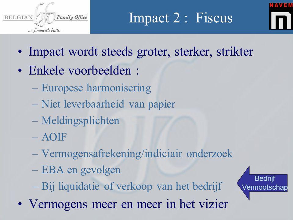 Impact 2 : Fiscus Impact wordt steeds groter, sterker, strikter
