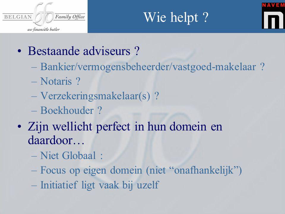 Wie helpt Bestaande adviseurs