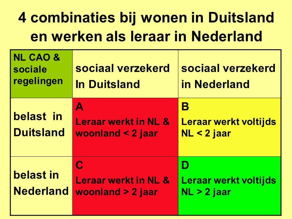 4 combinaties bij wonen in Duitsland en werken als leraar in Nederland