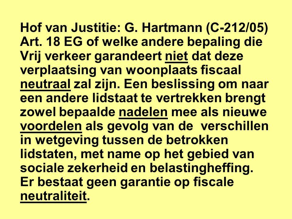 Hof van Justitie: G. Hartmann (C-212/05)