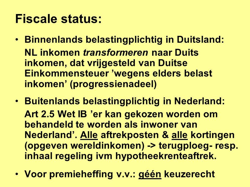 Fiscale status: Binnenlands belastingplichtig in Duitsland: