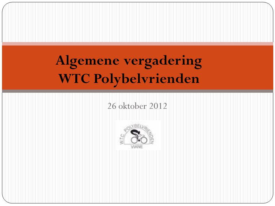 Algemene vergadering WTC Polybelvrienden