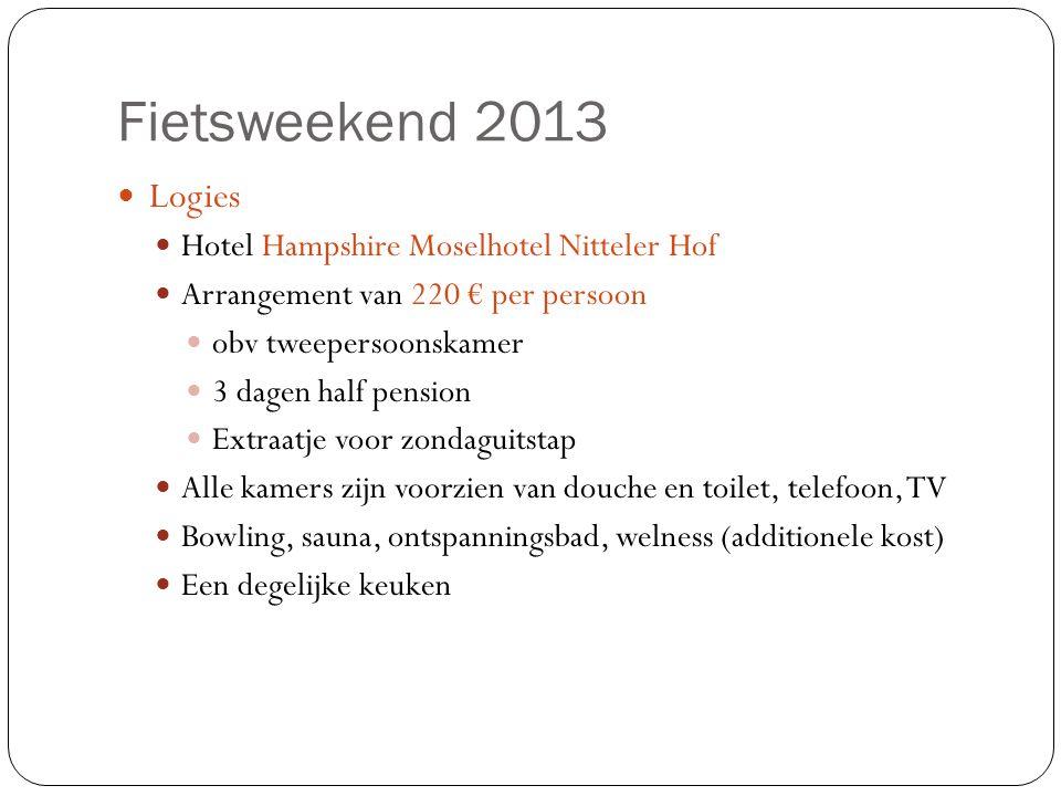 Fietsweekend 2013 Logies Hotel Hampshire Moselhotel Nitteler Hof