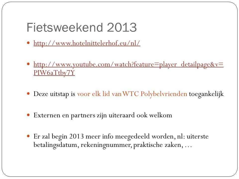 Fietsweekend 2013 http://www.hotelnittelerhof.eu/nl/