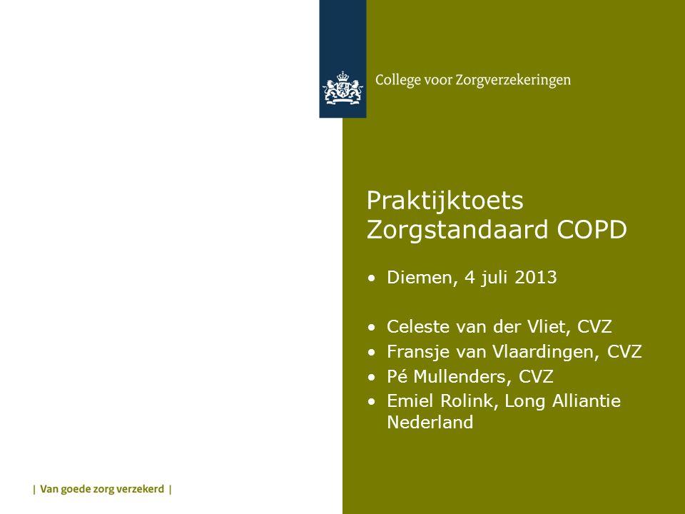Praktijktoets Zorgstandaard COPD