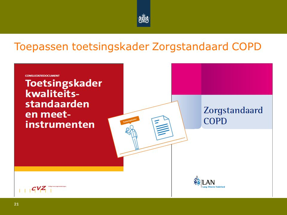 Toepassen toetsingskader Zorgstandaard COPD