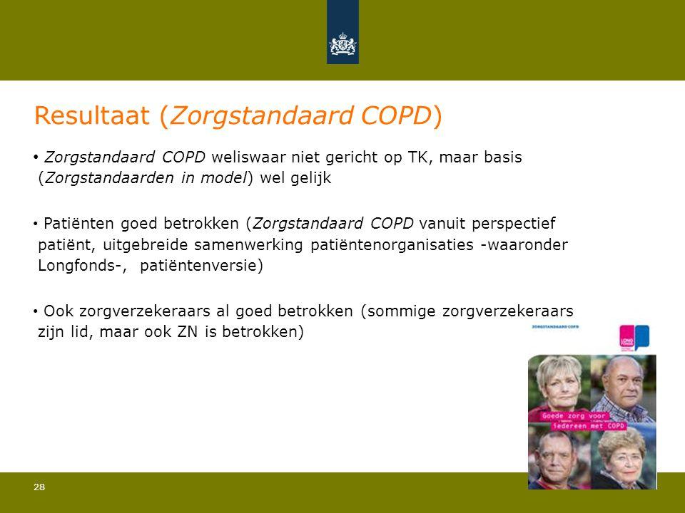 Resultaat (Zorgstandaard COPD)