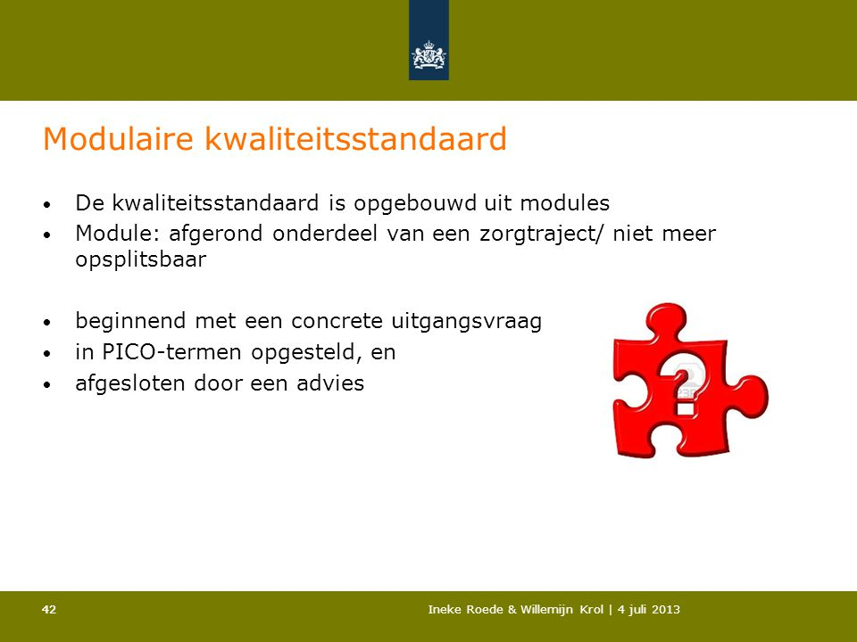 Modulaire kwaliteitsstandaard