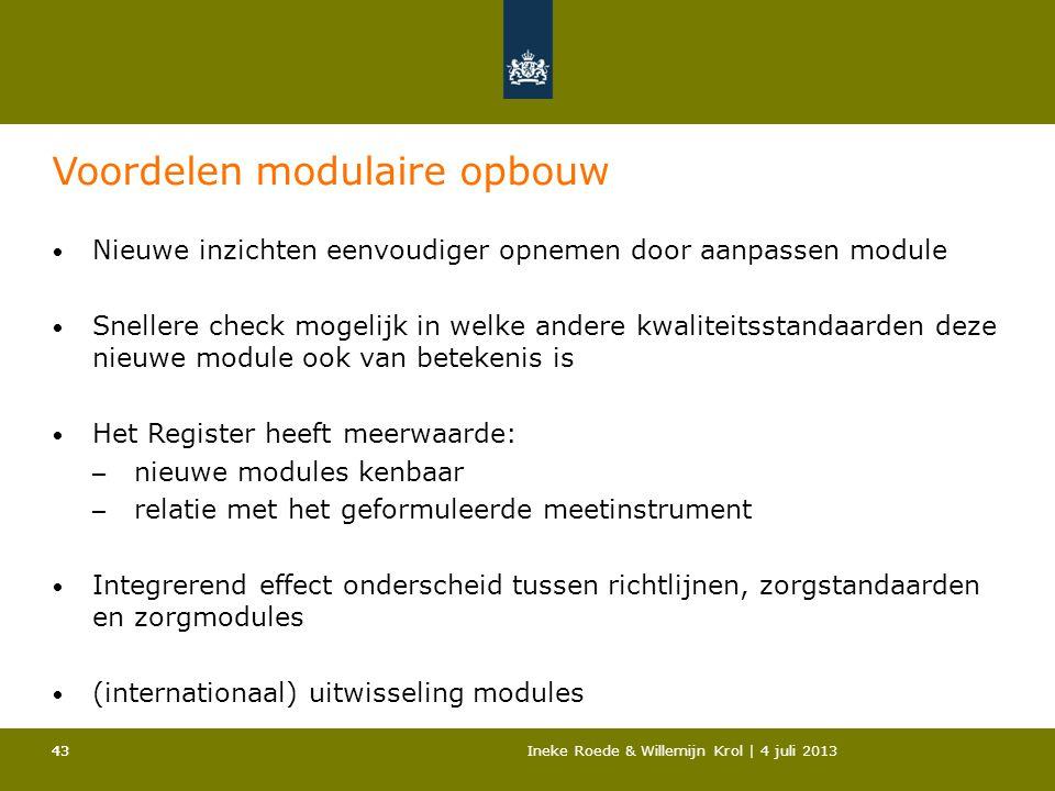 Voordelen modulaire opbouw