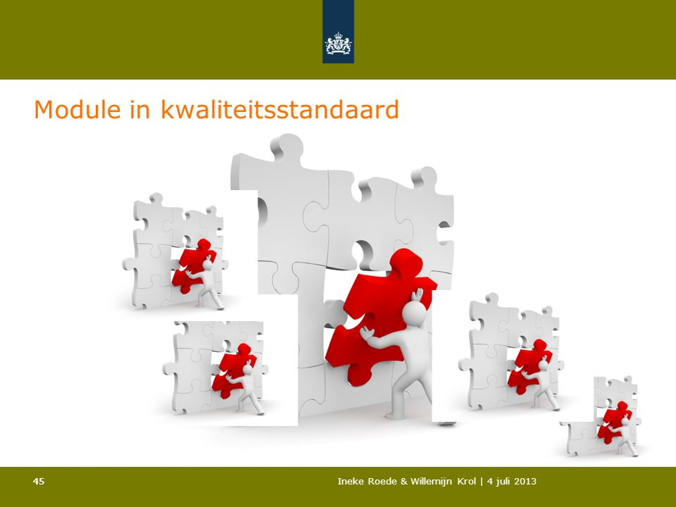 Module in kwaliteitsstandaard