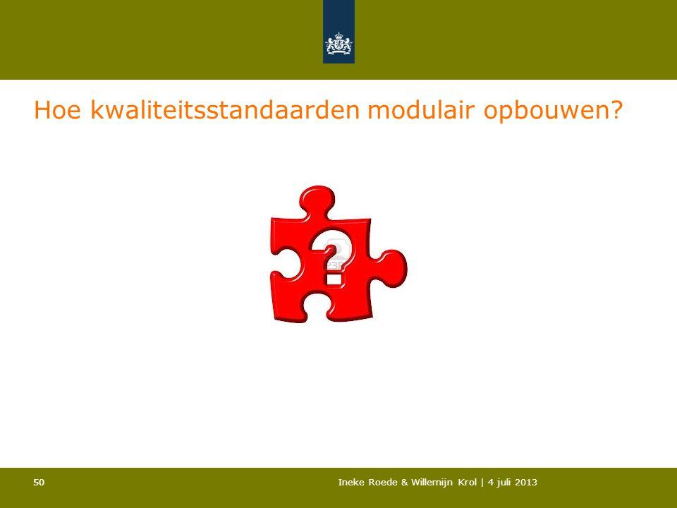 Hoe kwaliteitsstandaarden modulair opbouwen