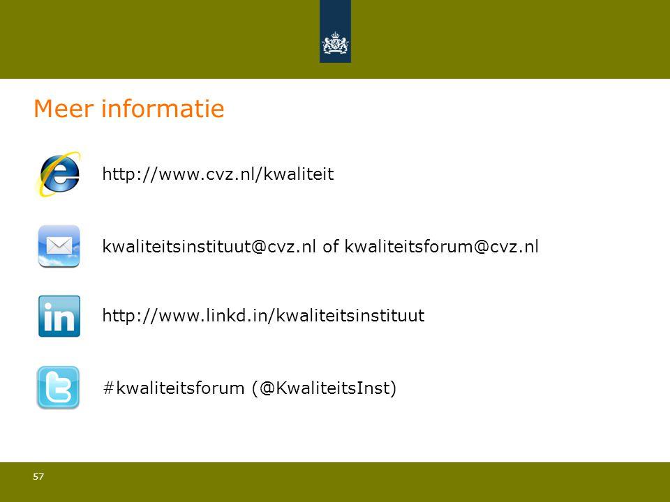 Meer informatie http://www.cvz.nl/kwaliteit