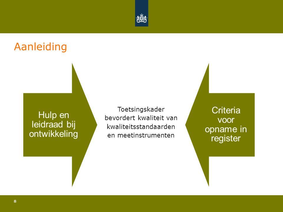 Aanleiding Hulp en leidraad bij ontwikkeling