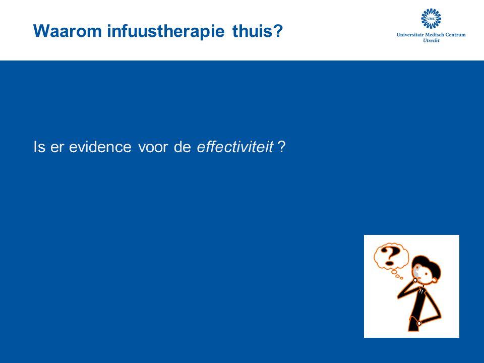 Waarom infuustherapie thuis