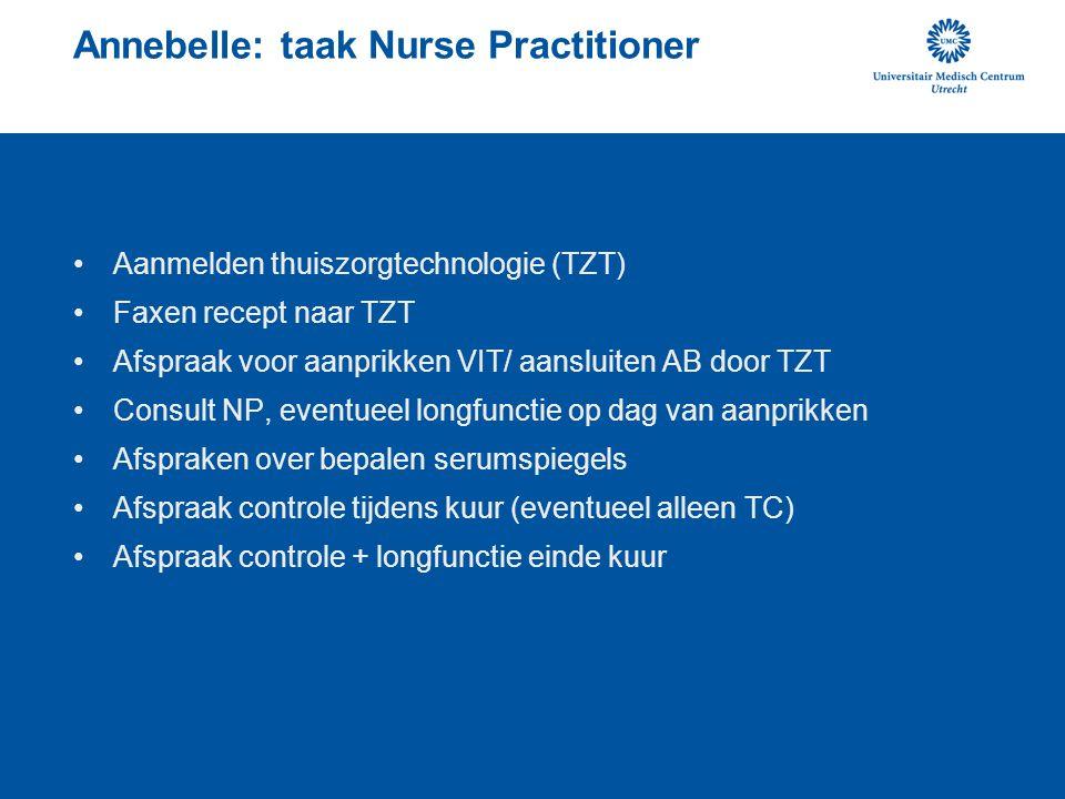 Annebelle: taak Nurse Practitioner