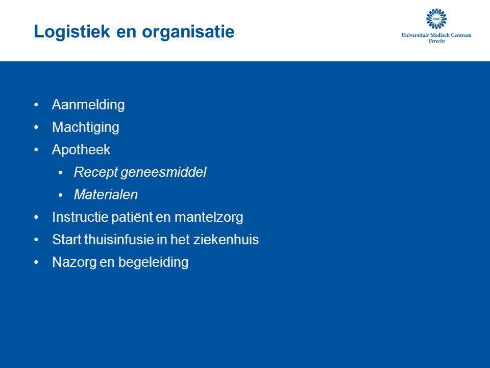 Logistiek en organisatie