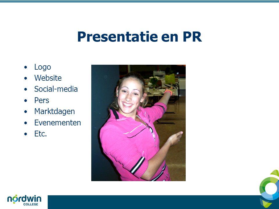 Presentatie en PR Logo Website Social-media Pers Marktdagen