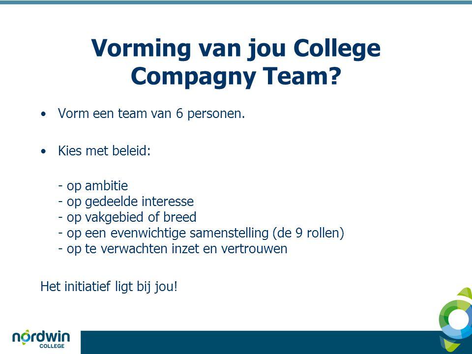 Vorming van jou College Compagny Team