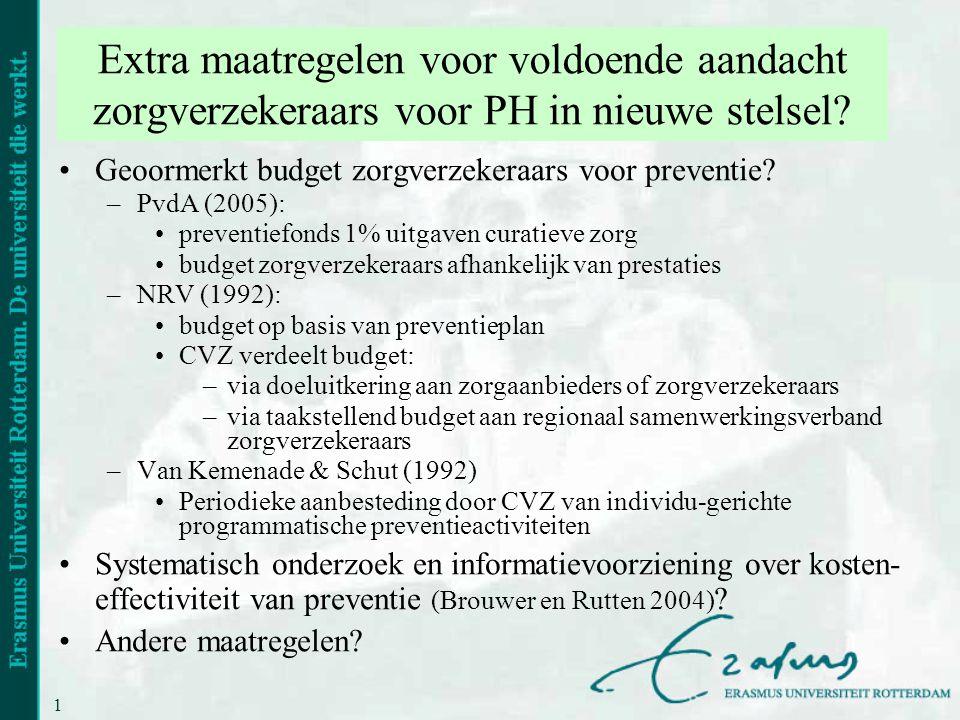 Extra maatregelen voor voldoende aandacht zorgverzekeraars voor PH in nieuwe stelsel