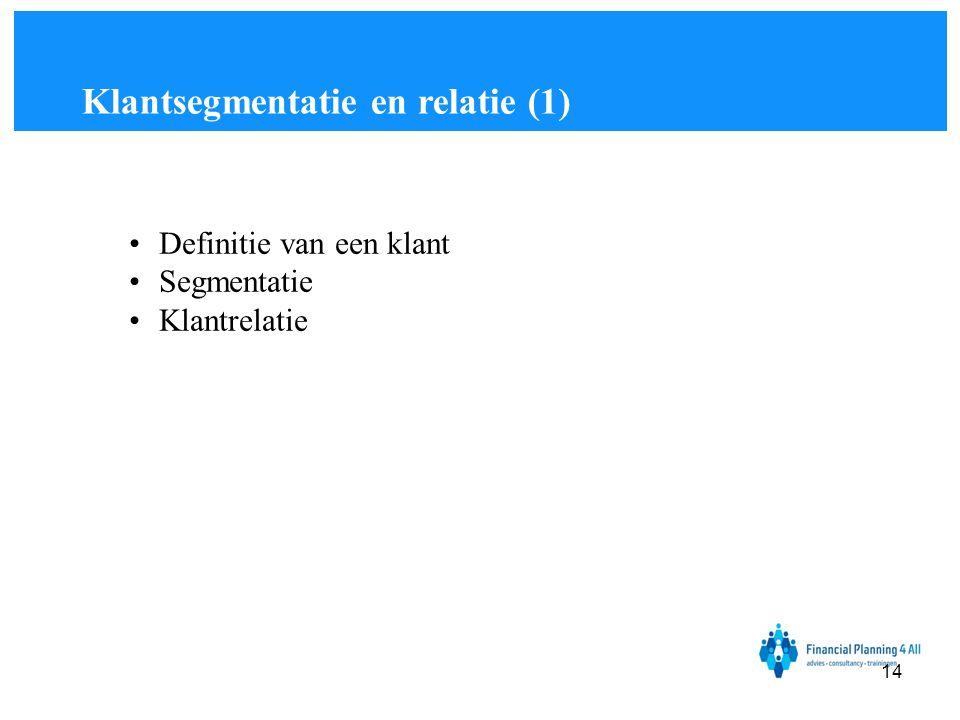 Klantsegmentatie en relatie (1)