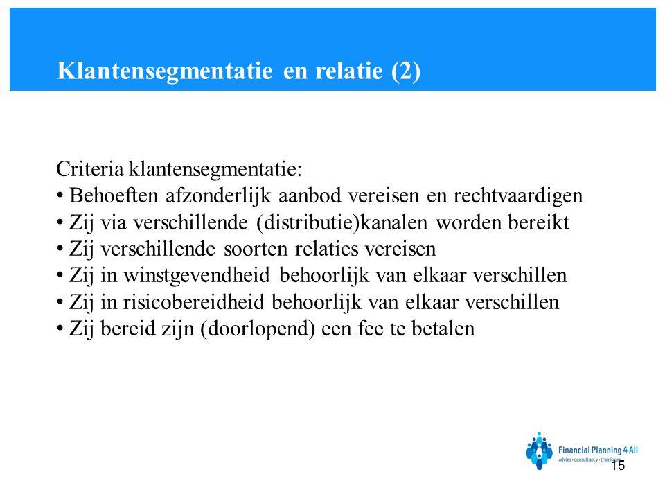 Klantensegmentatie en relatie (2)