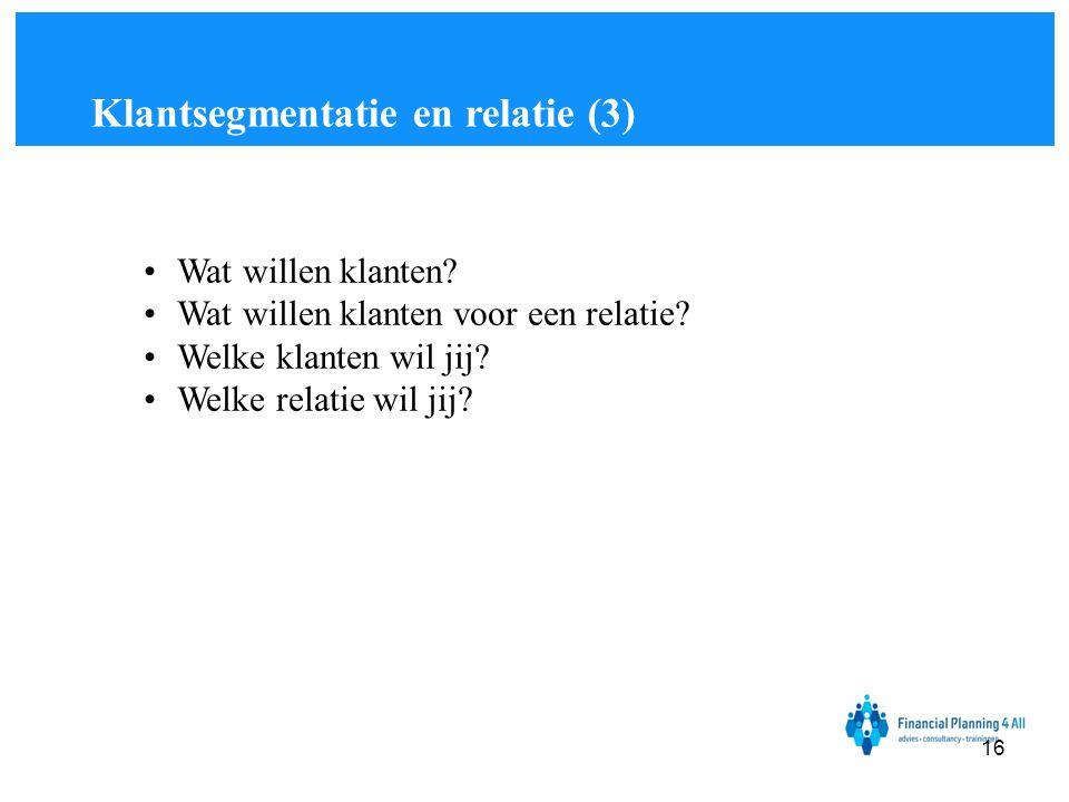 Klantsegmentatie en relatie (3)