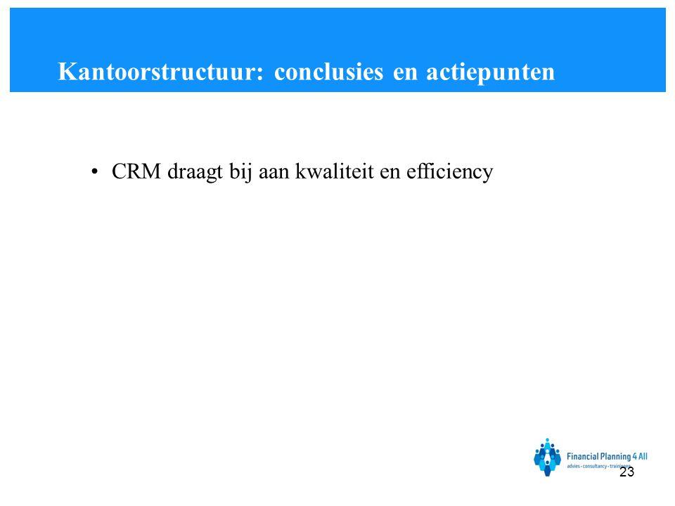 Kantoorstructuur: conclusies en actiepunten