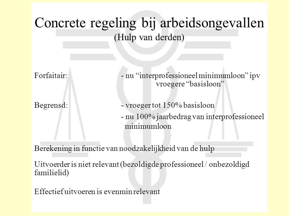 Concrete regeling bij arbeidsongevallen (Hulp van derden)