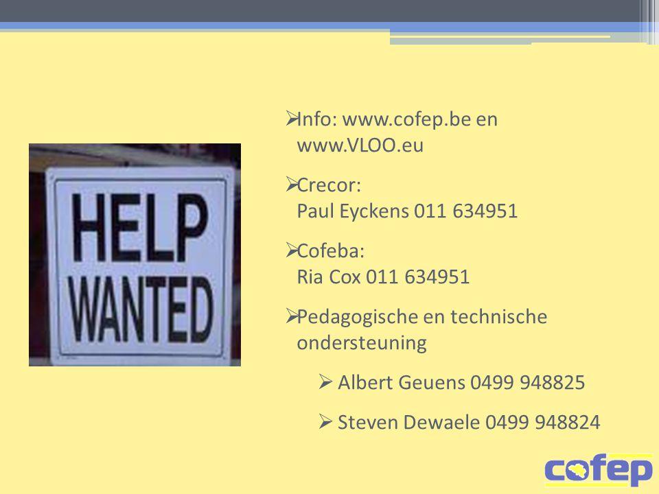 Info: www.cofep.be en www.VLOO.eu