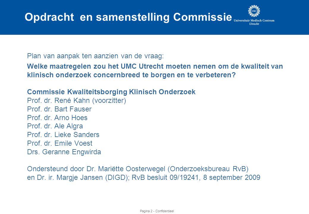 Opdracht en samenstelling Commissie