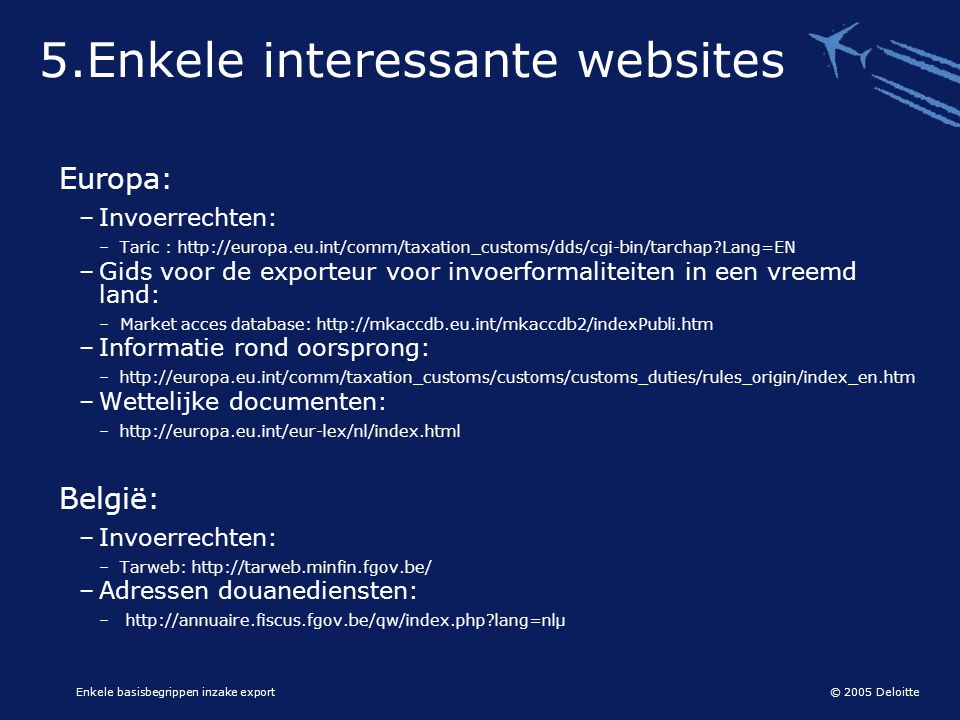 5.Enkele interessante websites