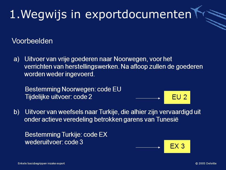 1.Wegwijs in exportdocumenten