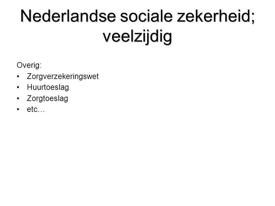 Nederlandse sociale zekerheid; veelzijdig