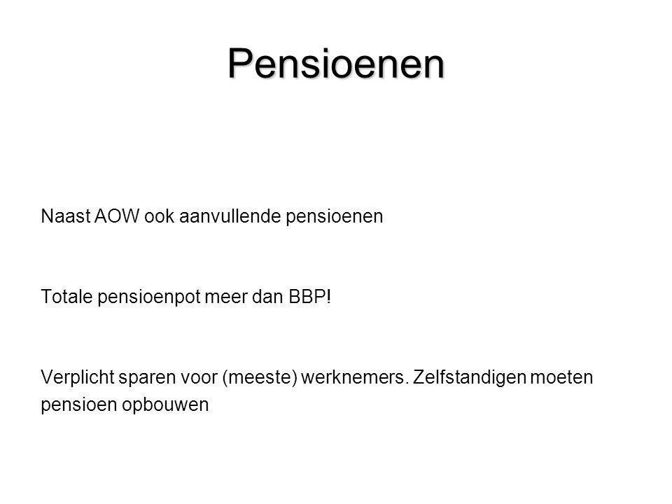 Pensioenen Naast AOW ook aanvullende pensioenen