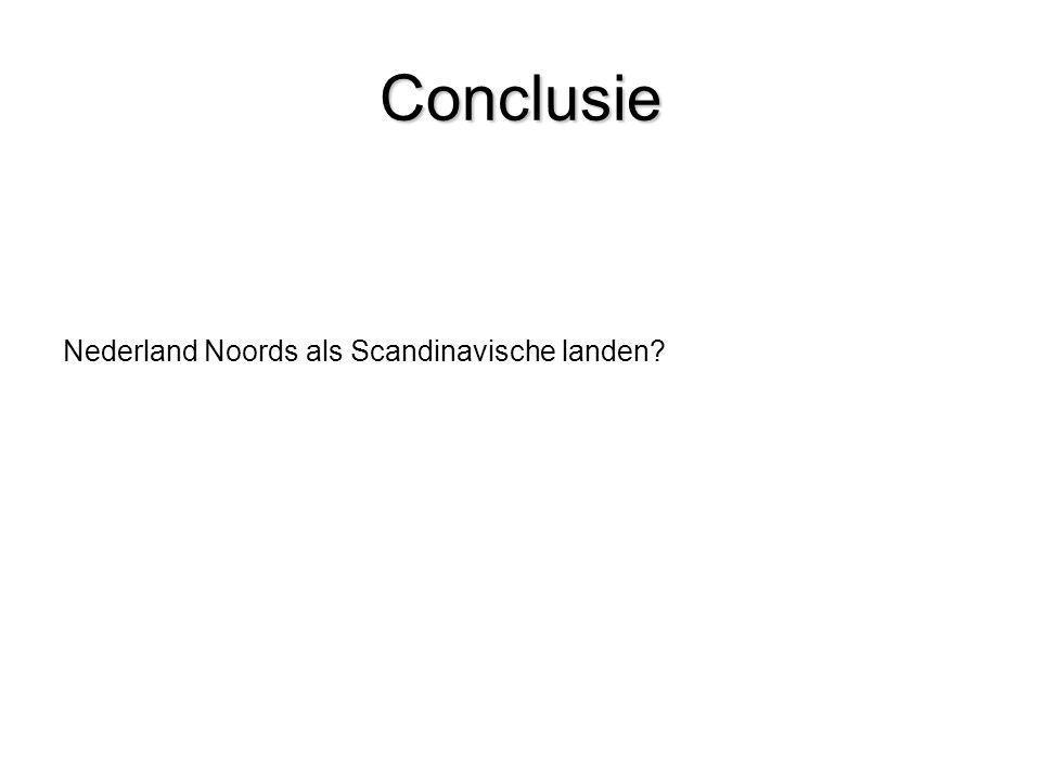Conclusie Nederland Noords als Scandinavische landen