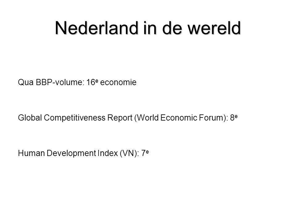 Nederland in de wereld Qua BBP-volume: 16e economie