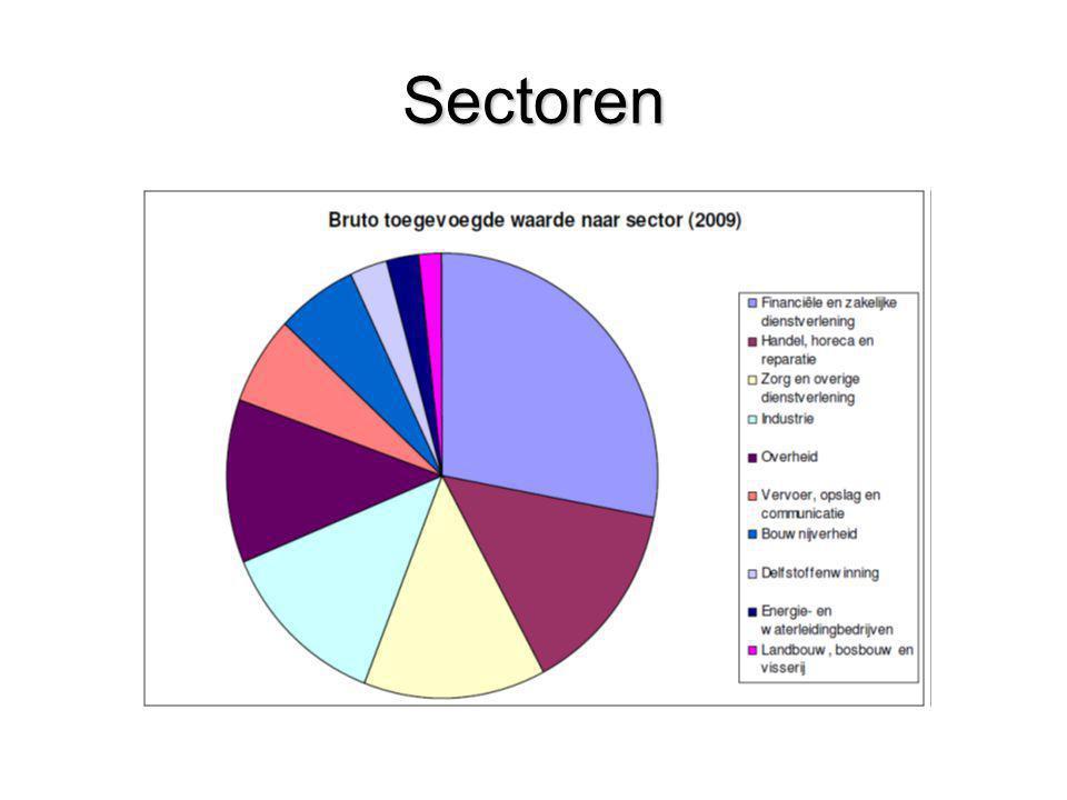 Sectoren Bron: CBS 1-1-2009