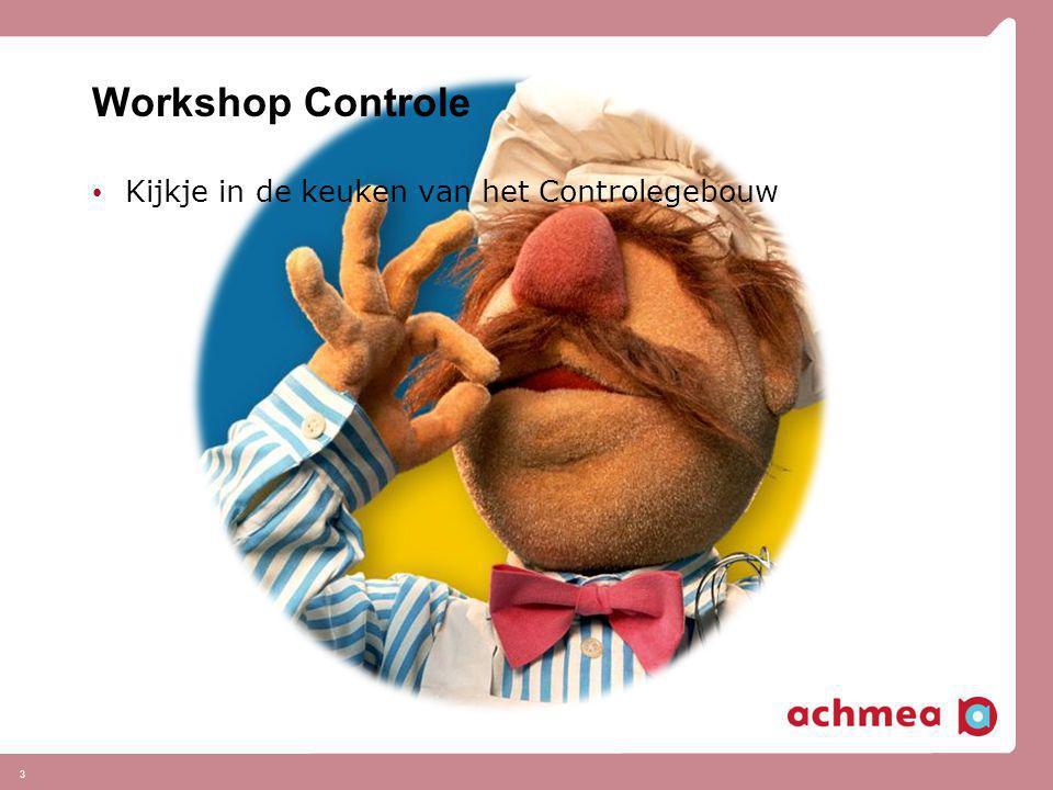 Workshop Controle Kijkje in de keuken van het Controlegebouw