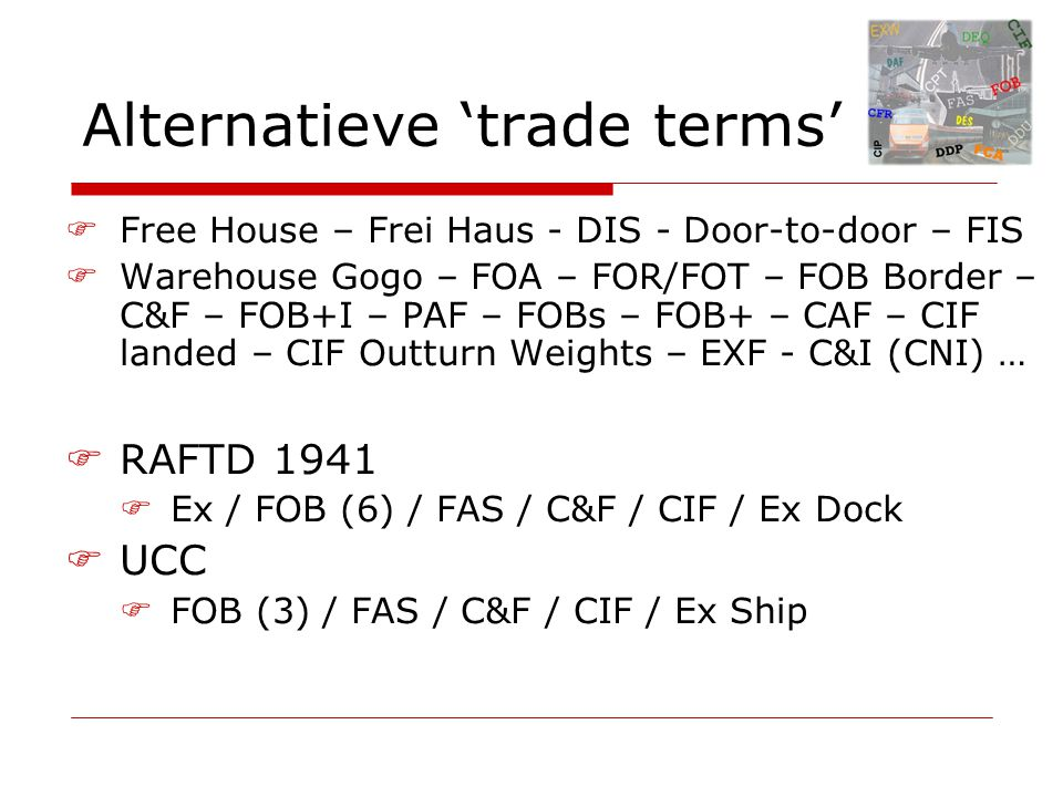 Alternatieve 'trade terms'