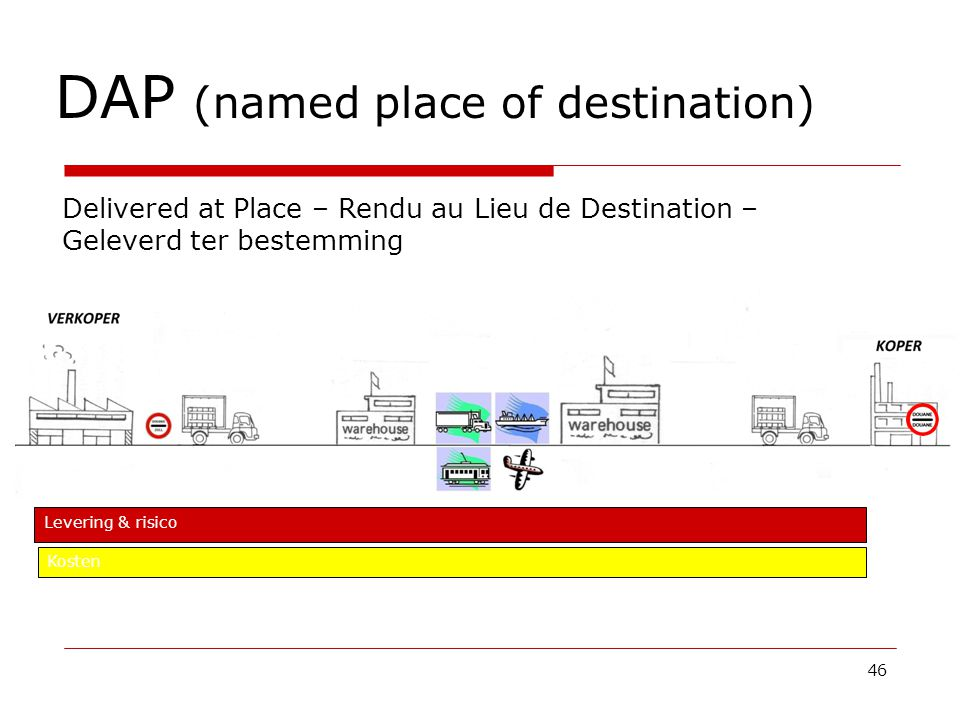 DAP (named place of destination)