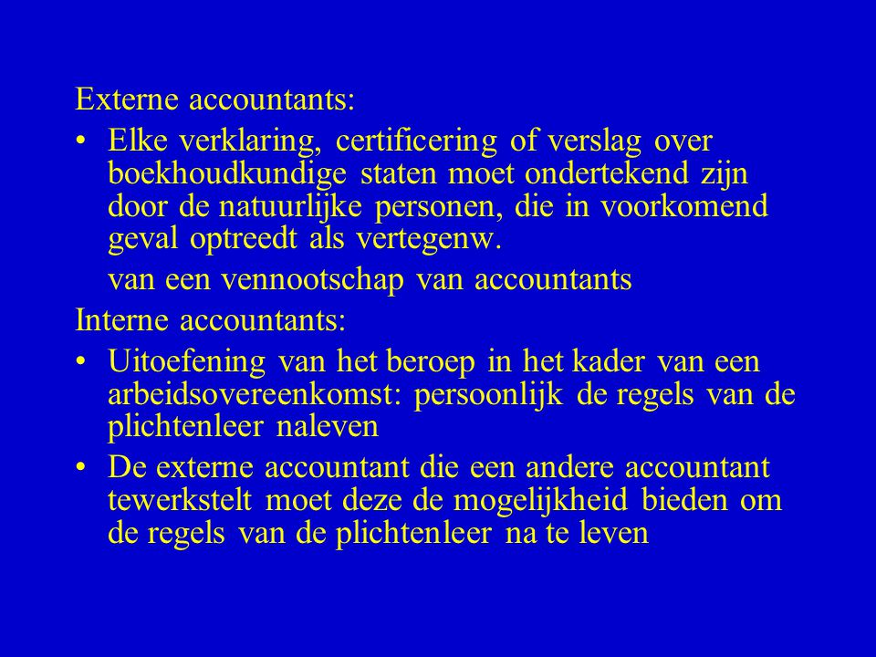 Externe accountants: