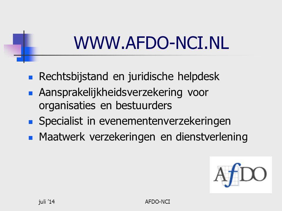 WWW.AFDO-NCI.NL Rechtsbijstand en juridische helpdesk