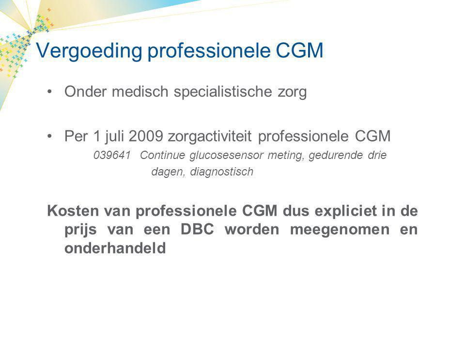 Vergoeding professionele CGM