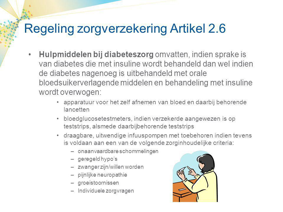 Regeling zorgverzekering Artikel 2.6
