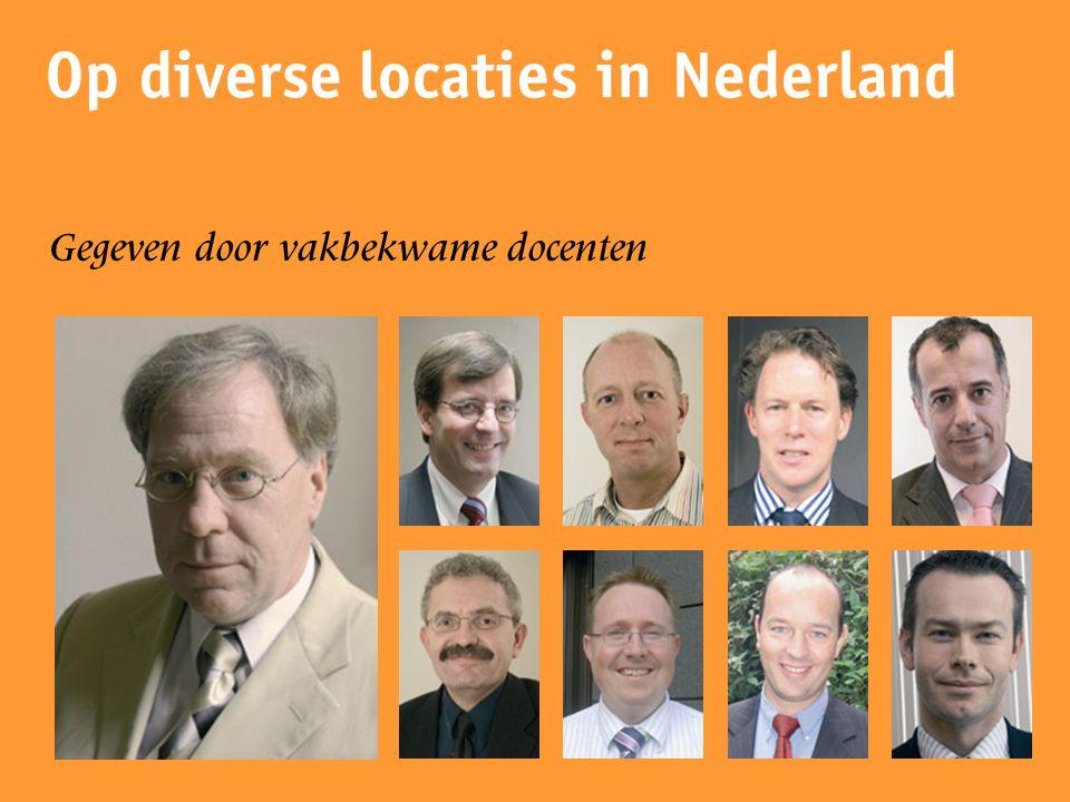 Op diverse locaties in Nederland