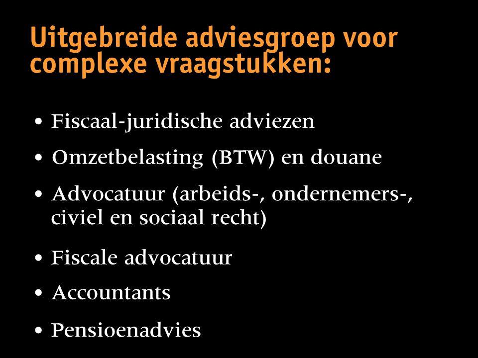 Uitgebreide adviesgroep voor complexe vraagstukken: