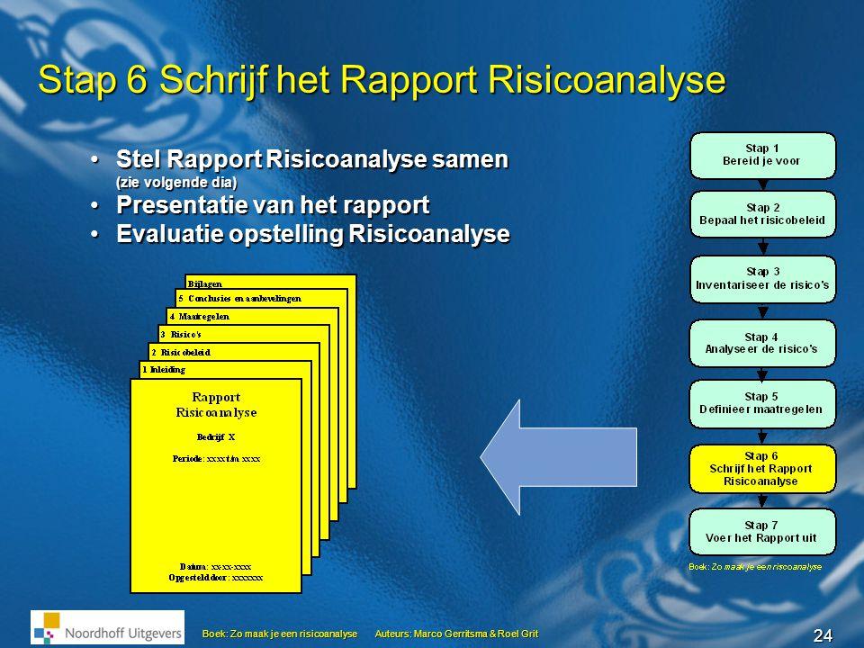 Stap 6 Schrijf het Rapport Risicoanalyse