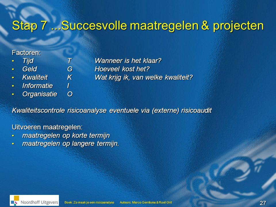 Stap 7 ...Succesvolle maatregelen & projecten